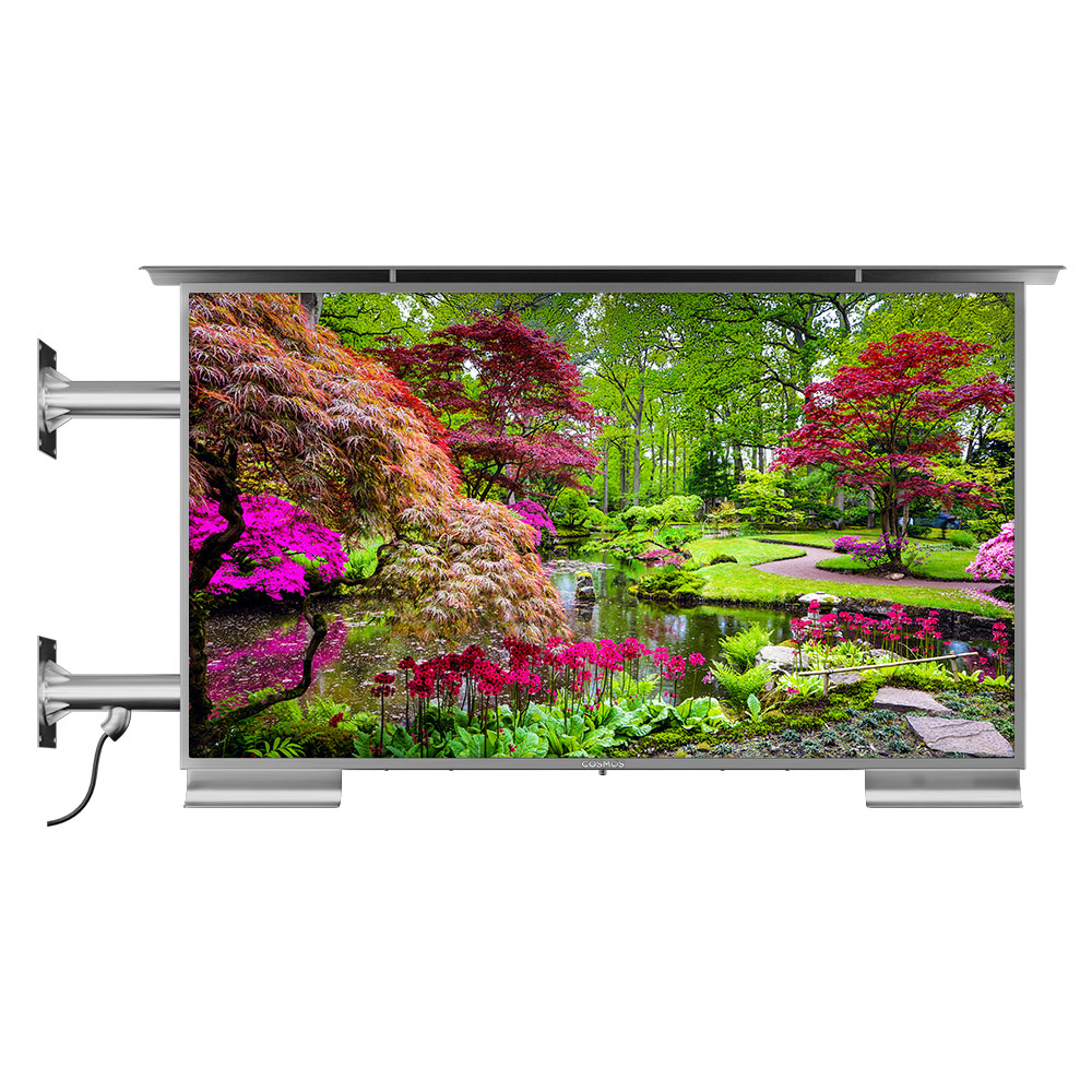 Outdoor TV side wall mount compatible with Vesa.