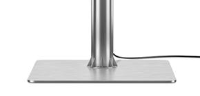 Stable floor mount for smart TV.