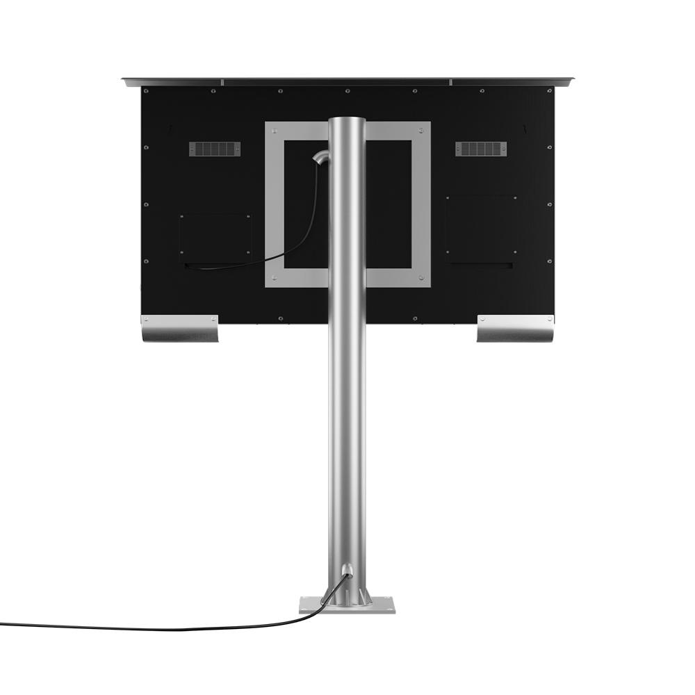 Vesa compatible floor mount.